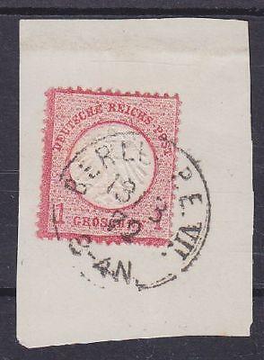 Brustschild Mi Nr. 4 mit K1 Berlin P.E. VII 13.03.1872 gest. auf Briefstück