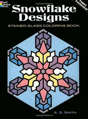 Snowflake Designs Stained Glass Coloring Book (Dover Design Stained Glass Color