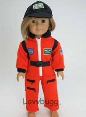 "Lovvbugg NASA Astronaut w Hat Costume for 18"" American Girl Doll Clothes"