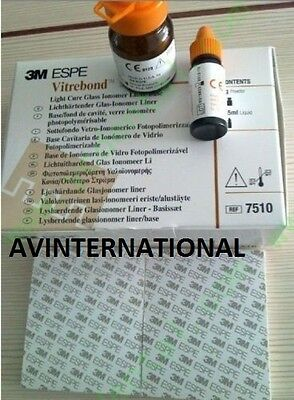 5 X 3m Espe Vitrebond 7510 Complete Kit 9g Powder 5.5 Ml Dental Lab Equipment
