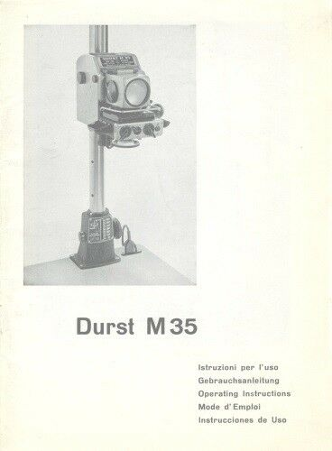 Durst M35 M 35 Instruction Manual