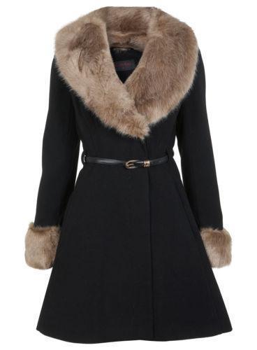 Vintage Fur Collar Coat Ebay