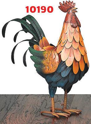 Garden Decor Bird Statuary -Golden Rooster Decor Med  - Regal Art & Gift 10190