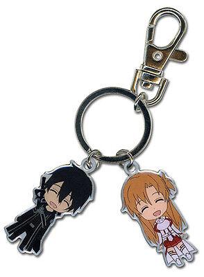 Usado, **Legit** Sword Art Online Authentic Anime Metal Keychain Kirito & Asuna #36640 segunda mano  Embacar hacia Argentina