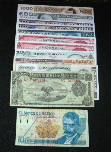 Mexican Peso Note Mexico Ebay