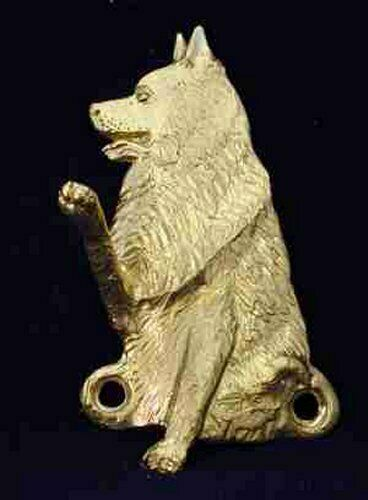 SCHIPPERKE Hook in Bronze