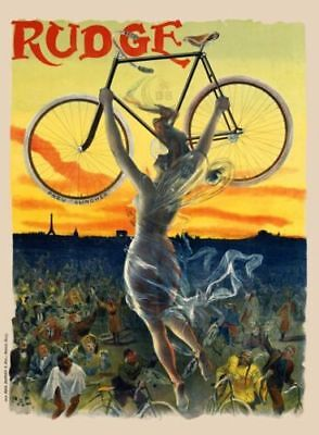 "Rudge Vintage Bicycle Poster - Cycling 11"" x 17"""