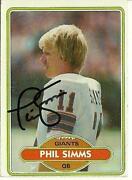Phil Simms Autograph