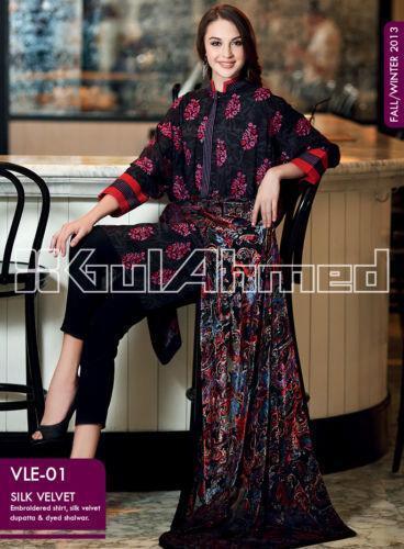 Velvet Salwar Kameez Womens Clothing EBay