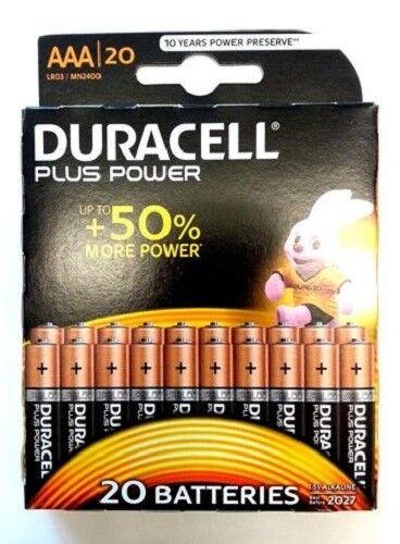 20 x Duracell - Plus Power Batterie LR03 AAA Micro MN2400 1,5V - 1 x Blister