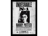 Harry Potter Undesirable No1 Framed Print - Overall Size: 36 x 46 cm