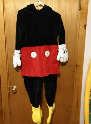Adult Disney Store MICKEY MOUSE Costume Sz SMALL Deluxe Velour One Piece  - Adult Store Costumes