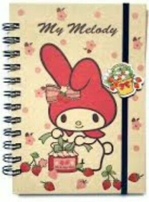 Sanrio My Melody Strawberry Notebook 72 Pages Cute Hello Kitty & Friends New