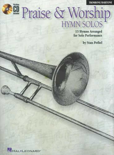 Praise And Worship Hymn Solos Trombone Baritone Church Music Book & CD