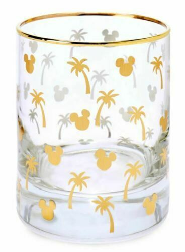 Disney Store Mickey Mouse Tropical Glass ~ NEW in Box