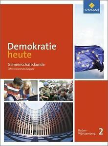 Demokratie heute 2 Baden-Württemberg, Schroedel-Verlag