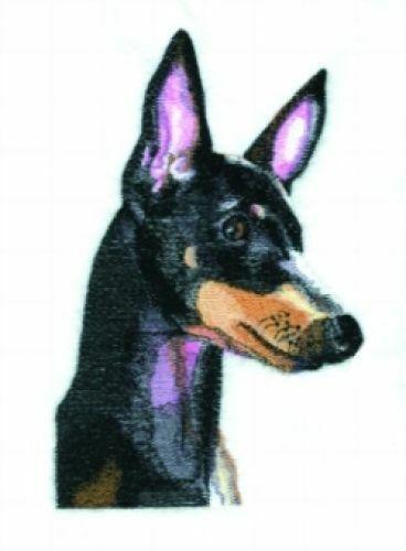 Embroidered Short-Sleeved T-Shirt - Manchester Terrier BT4479  Sizes S - XXL