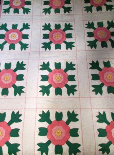 Rose Of Sharon Quilt Ebay