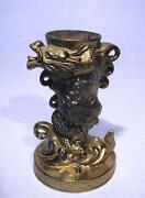 Brass Dragon Candle Holder