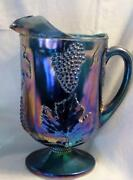 Vintage Carnival Glass Pitcher