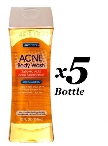 5 x XtraCare Skin Acne Body Clear Wash With Salicylic Acid W