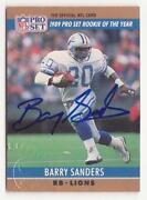 Barry Sanders Autograph