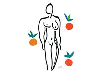 HENRI MATISSE - 'NUDE WITH ORANGES' - LIMITED EDITION LITHOGRAPH - c1950s (picture. print)
