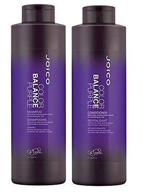 Joico Color Balance PURPLE  shampoo and Conditioner duo 33.8oz/liter