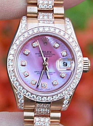 Ladies Rose Gold Rolex Watch Ebay