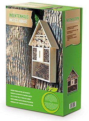 2 x Insektenhotel Holz ca 50 cm / Nistkasten Natur Insekten Garten befüllt