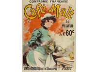French Coffee 1925 Vintage Art Deco Poster Advertising Canvas Print 20x34