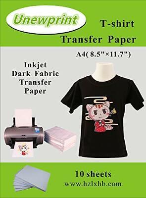 Heat Transfer Paper For Dark Fabric Inkjet Transfer Paper For T-Shirts Pack 10 - $12.06