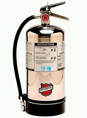 Lot Of 2 Buckeye K Class Fire Extinguisher 50006 Bilingual Sign Included