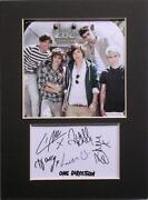 One Direction Signed Photo