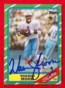 Warren Moon Autograph