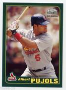 Albert Pujols Topps Chrome Rookie Card