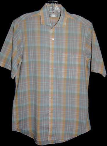 Mens shirts short sleeve madras ebay for Mens madras shirt sale