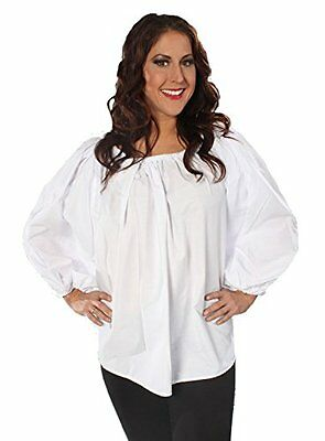 WOMENS LADY PIRATE PEASANT RENAISSANCE WENCH COSTUME LONG SLEEVE BLOUSE SHIRT ](Renaissance Peasant Blouse)