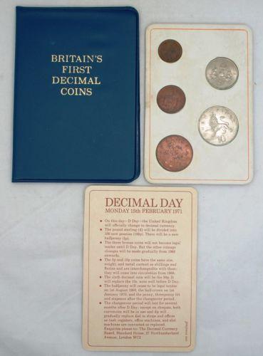 Britains First Decimal Coins Ebay