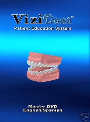 Vizident Patient Education Dental Dvd Eng Span Sale