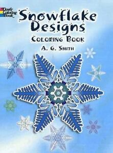 Image Is Loading Snowflake Designs Coloring Book Dover Design Books