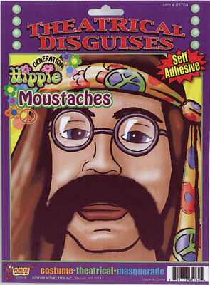 Halloween Costumes For Hippies (Hippe Brown Moustache for Halloween Costume)