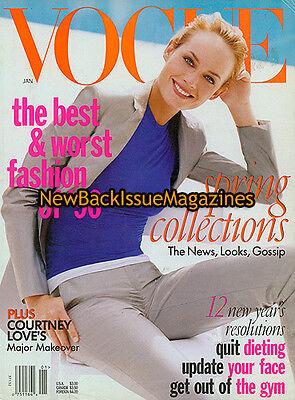 Vogue 1 96 Amber Valletta January 1996 New