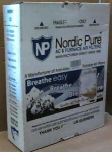 NEW Nordic Pure 14x20x1 12 Pleated AC Furnace Filter Box of 6 !