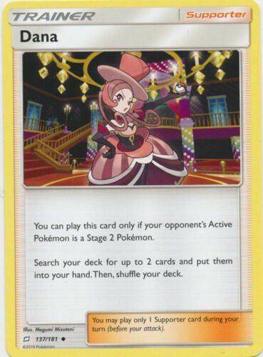 Dana 137/181 Uncommon Trainer Card Pokemon SM TEAM UP Single or Playset x4
