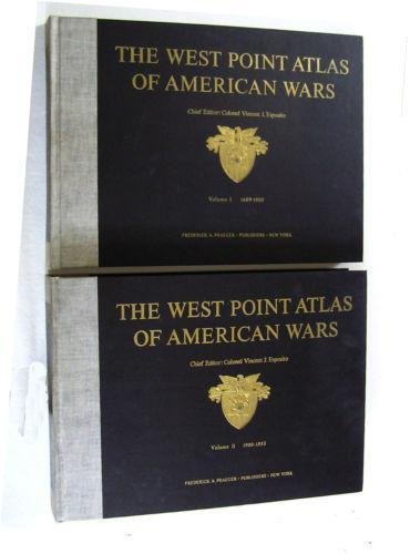 The West Point Atlas of American Wars Volume 1 and 2, 1959, Third printing 1964