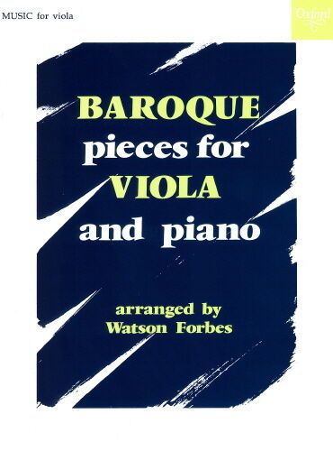 Baroque Pieces for Viola and Piano OUP356464