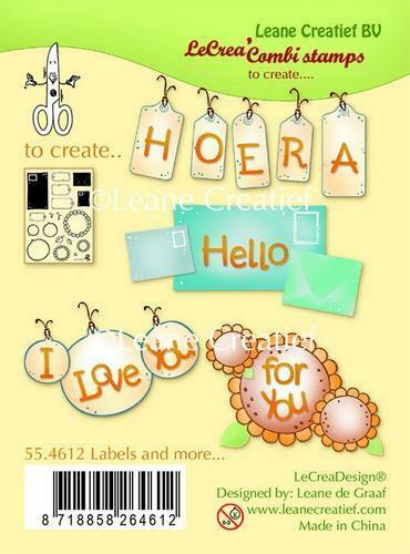 Leane Creatief Lea Crea Combi stamps Labels and more... 55.4612 clear stamp