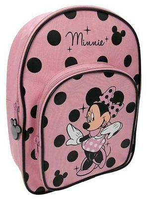 Disney Minnie Mouse Polka Girls Character Backpack School Bag  Free P&P