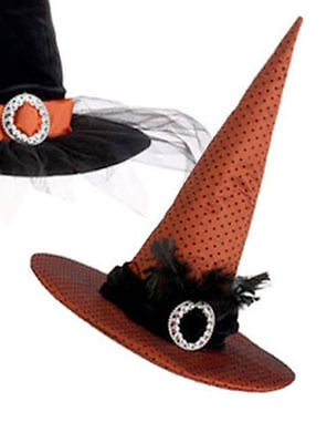 RAZ Imports Halloween Decor - Elegant Witch's Hat Centerpiece Orange #H3229198